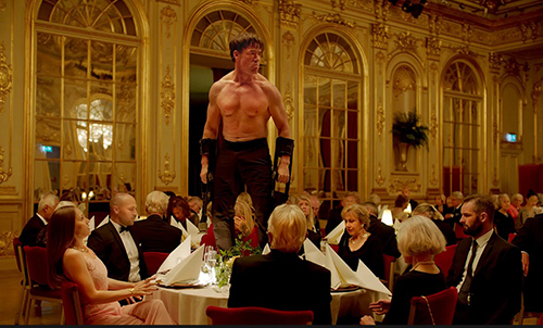 Terry Notary as performance artist Oleg in The Square